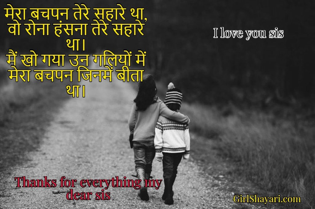 Sister quotes , sister birthday quotes in hindi
