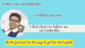 Follow me on Liknein GirlShayari.com