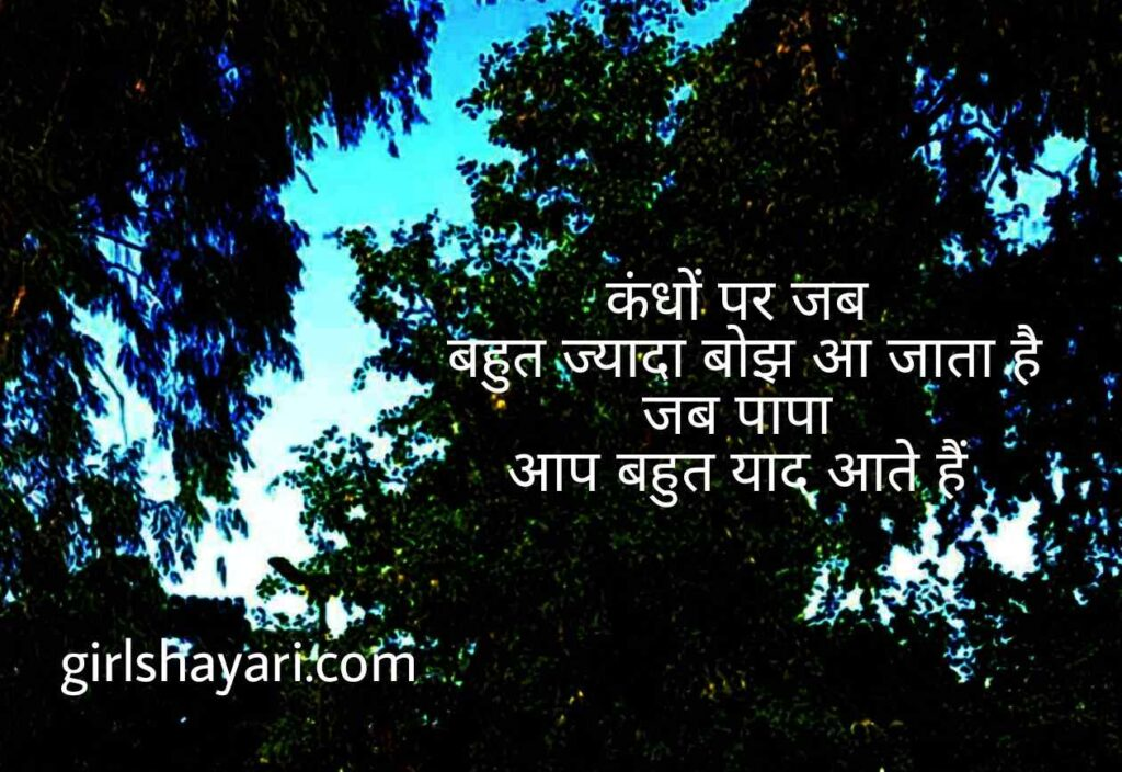 Papa shayari | Fathers day quote in hindi | Father's day 2021